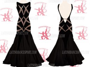 LATINODANCESPORT.COM-Ballroom STANDARD SMOOTH Dance Dress-SDS-11