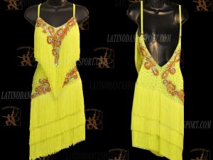 LATINODANCESPORT.COM-Ballroom LATIN RHYTHM Dance Dress-LDS-06