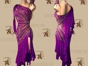 LATINODANCESPORT.COM-Ballroom LATIN RHYTHM Dance Dress-LDS-08