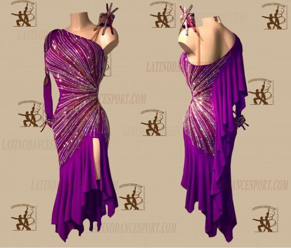 LATINODANCESPORT.COM-Ballroom LATIN RHYTHM Dance Dress-LDS-08