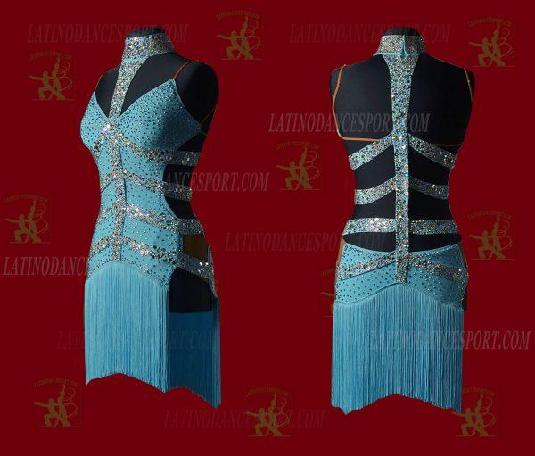 LATINODANCESPORT.COM-Ballroom LATIN RHYTHM Dance Dress-LDS-22