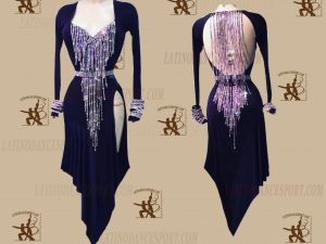 LATINODANCESPORT.COM-Ballroom LATIN RHYTHM Dance Dress-LDS-49