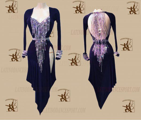 LATINODANCESPORT.COM-Ballroom LATIN RHYTHM Dance Dress-LDS-49
