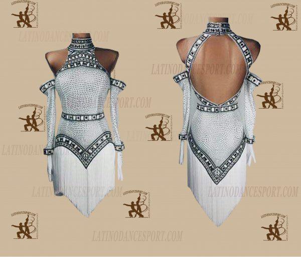 LATINODANCESPORT.COM-Ballroom LATIN RHYTHM Dance Dress-LDS-53