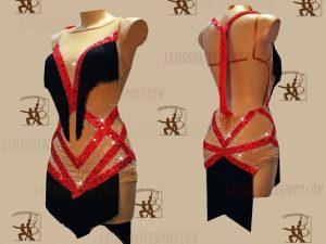 LATINODANCESPORT.COM-Ballroom LATIN RHYTHM Dance Dress-LDS-56