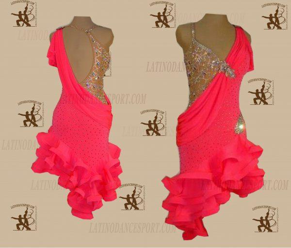 LATINODANCESPORT.COM-Ballroom LATIN RHYTHM Dance Dress-LDS-57