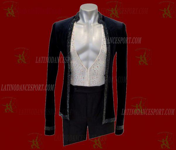 LATINODANCESPORT.COM-Ballroom LATIN RHYTHM Dance Body Shirt-MDS-03