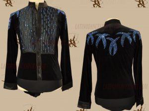 LATINODANCESPORT.COM-Ballroom LATIN RHYTHM Dance Body Shirt-MDS-04