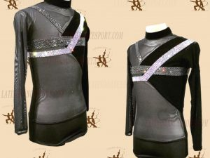 LATINODANCESPORT.COM-Ballroom LATIN RHYTHM Dance Body Shirt-MDS-05