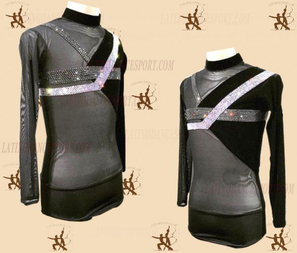 LATINODANCESPORT.COM-Ballroom LATIN RHYTHM Dance Body Shirt-MDS-05