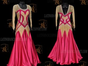 LATINODANCESPORT.COM-Ballroom STANDARD SMOOTH Dance Dress-SDS-03