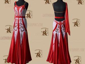 LATINODANCESPORT.COM-Ballroom STANDARD SMOOTH Dance Dress-SDS-08