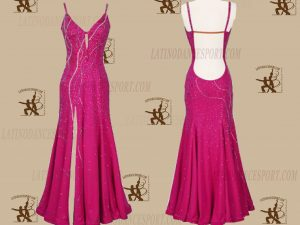 LATINODANCESPORT.COM-Ballroom STANDARD SMOOTH Dance Dress-SDS-10