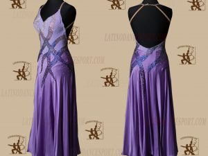 LATINODANCESPORT.COM-Ballroom STANDARD SMOOTH Dance Dress-SDS-13