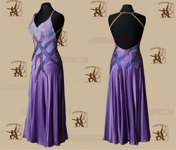 LATINODANCESPORT.COM-Ballroom STANDARD SMOOTH Dance Dress-SDS-13