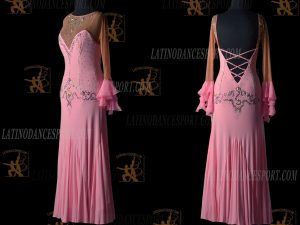 LATINODANCESPORT.COM-Ballroom STANDARD SMOOTH Dance Dress-SDS-14