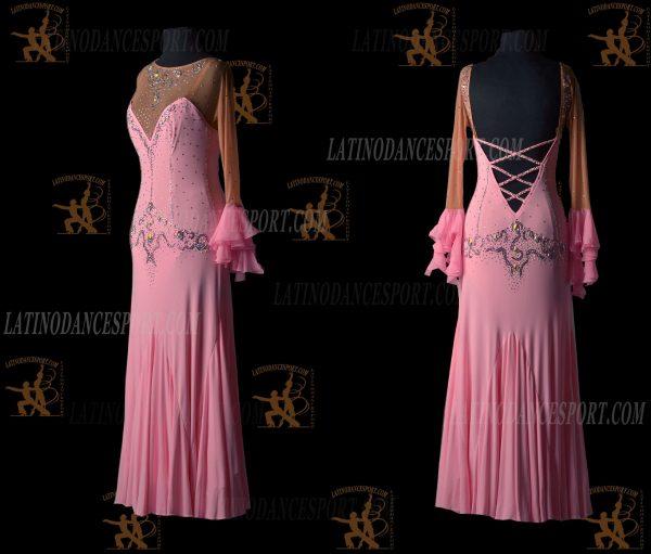 LATINODANCESPORT.COM-Ballroom STANDARD SMOOTH Dance Dress-SDS-14