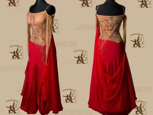 LATINODANCESPORT.COM-Ballroom STANDARD SMOOTH Dance Dress-SDS-16