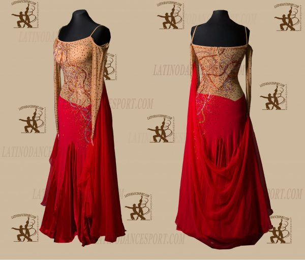 LATINODANCESPORT.COM-Ballroom STANDARD SMOOTH Dance Dress-SDS-16