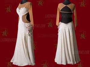LATINODANCESPORT.COM-Ballroom STANDARD SMOOTH Dance Dress-SDS-17
