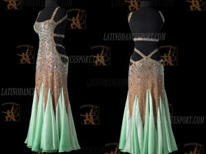 LATINODANCESPORT.COM-Ballroom STANDARD SMOOTH Dance Dress-SDS-19