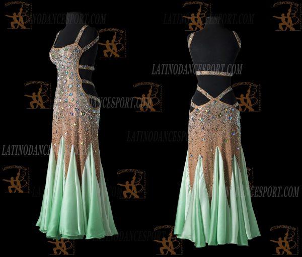 LATINODANCESPORT.COM-Ballroom STANDARD SMOOTH Dance Dress-SDS-19