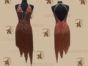 LATINODANCESPORT.COM-Ballroom LATIN RHYTHM Dance Dress-LDS-62