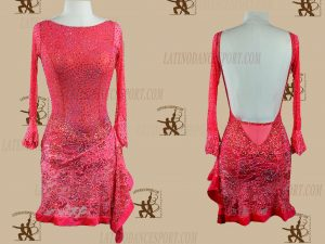 LATINODANCESPORT.COM-Ballroom LATIN RHYTHM Dance Dress-LDS-63