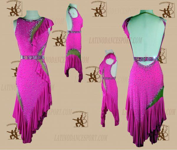 LATINODANCESPORT.COM-Ballroom LATIN RHYTHM Dance Dress-LDS-65
