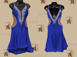 LATINODANCESPORT.COM-Ballroom LATIN RHYTHM Dance Dress-LDS-68