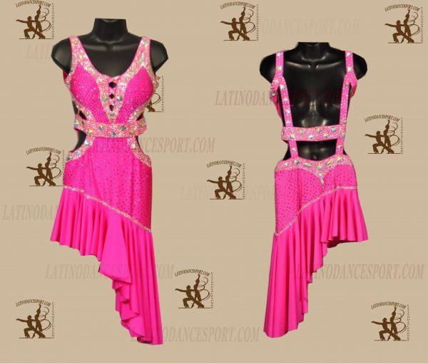 LATINODANCESPORT.COM-Ballroom LATIN RHYTHM Dance Dress-LDS-70