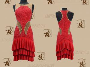 LATINODANCESPORT.COM-Ballroom LATIN RHYTHM Dance Dress-LDS-73