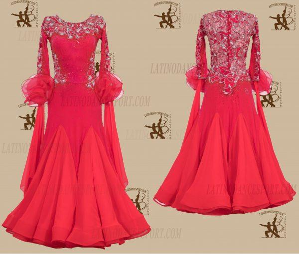 LATINODANCESPORT.COM-Ballroom STANDARD SMOOTH Dance Dress-SDS-23