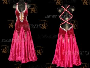 LATINODANCESPORT.COM-Ballroom STANDARD SMOOTH Dance Dress-SDS-26