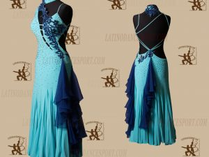 LATINODANCESPORT.COM-Ballroom STANDARD SMOOTH Dance Dress-SDS-27