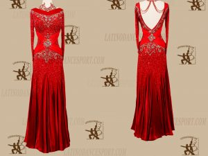 LATINODANCESPORT.COM-Ballroom STANDARD SMOOTH Dance Dress-SDS-29