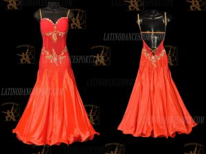 LATINODANCESPORT.COM-Ballroom STANDARD SMOOTH Dance Dress-SDS-31