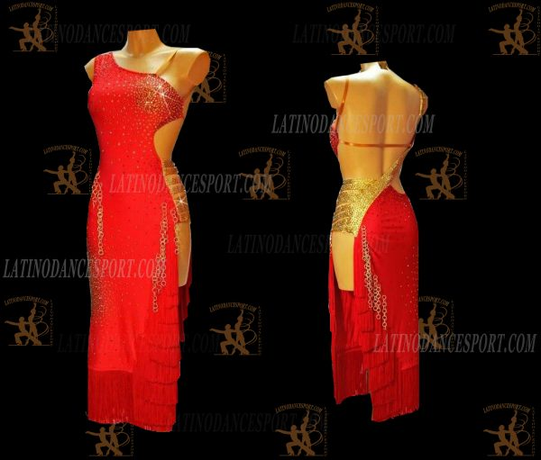 LATINODANCESPORT.COM-Ballroom Latin Rhythm Dance Dress-LDS-79