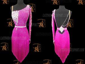 LATINODANCESPORT.COM-Ballroom Latin Rhythm Dance Dress-LDS-77