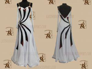 LATINODANCESPORT.COM-Ballroom STANDARD SMOOTH Dance Dress-SDS-34