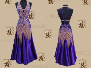 LATINODANCESPORT.COM-Ballroom STANDARD SMOOTH Dance Dress-SDS-33