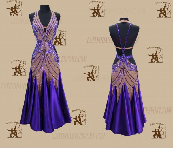 LATINODANCESPORT.COM-Ballroom STANDARD SMOOTH Dance Dress-SDS-33