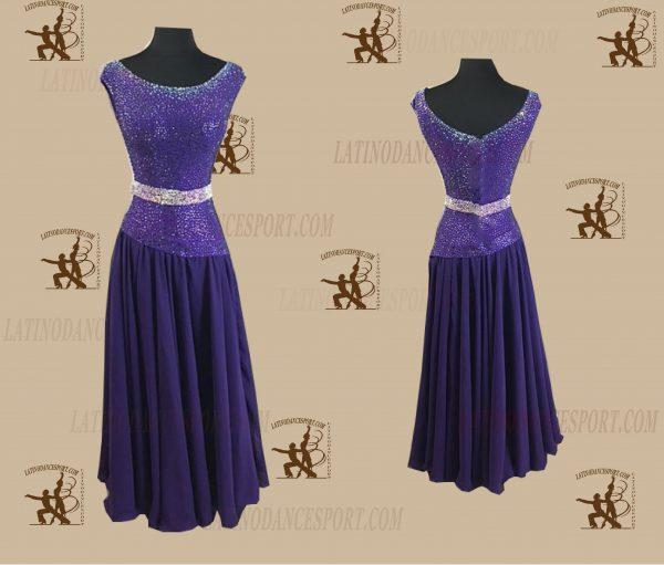 Latinodancesport.com-Ballroom Standard Smooth Dance Dress-SDS-37