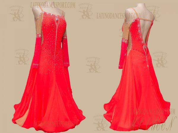 Latinodancesport.com-Ballroom Standard Smooth Dance Dress-SDS-53