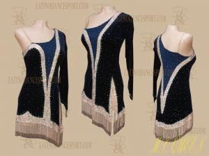 LATINODANCESPORT.COM-Ballroom Latin Rhythm Dance Dress-LDS-83