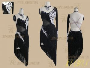 LATINODANCESPORT.COM-Ballroom Latin Rhythm Dance Dress-LDS-85