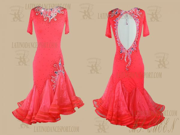 LATINODANCESPORT.COM-Ballroom Latin Rhythm Dance Dress-LDS-87