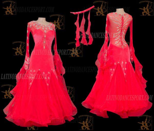 Latinodancesport.com-Ballroom Standard Smooth Dance Dress-SDS-46