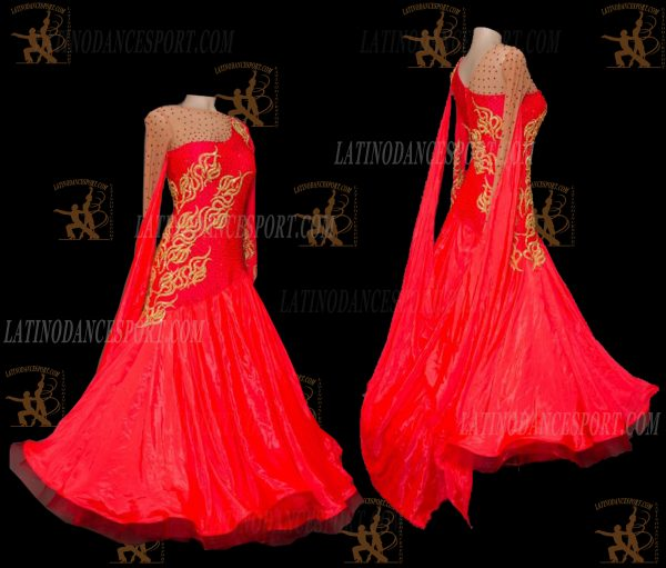 Latinodancesport.com-Ballroom Standard Smooth Dance Dress-SDS-51