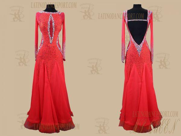 Latinodancesport.com-Ballroom Standard Smooth Dance Dress-SDS-55